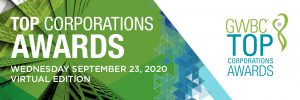 2020 TOP Corporations Awards for GWBC on September 23, 2020