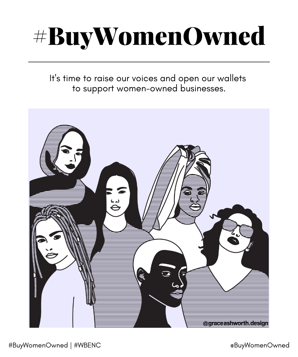 #BuyWomenOwned Campaign Graphics